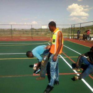 tennis courts marking