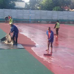 Tennis court rejuvinating